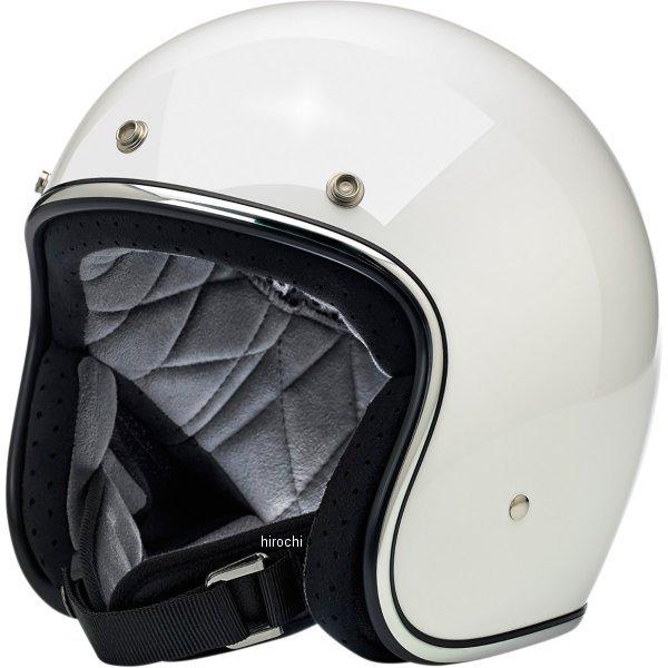 【USA在庫あり】 ビルトウェル Biltwell ジェットヘルメット Bonanza 白(つや有り) MD 0104-2422 JP店