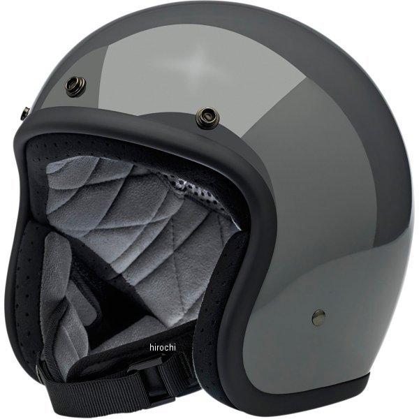 【USA在庫あり】 ビルトウェル Biltwell ジェットヘルメット Bonanza グレー(つや有り) MD 0104-2434 JP店