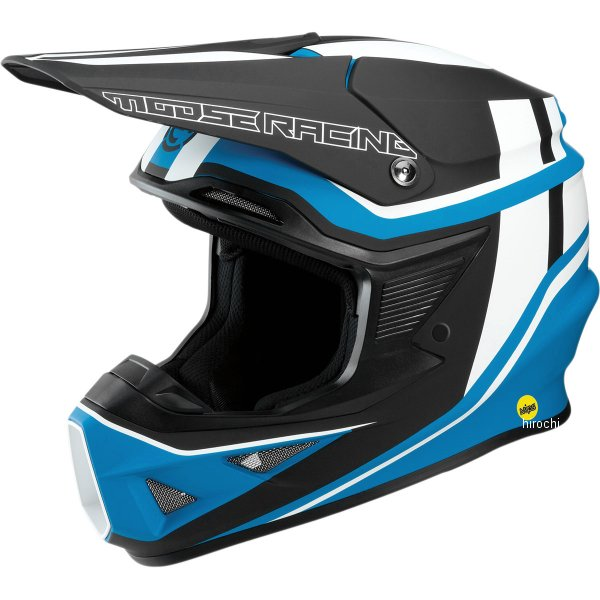 【USA在庫あり】 ムースレーシング MOOSE RACING オフロードヘルメット FI 黒/青 XS 0110-5738 JP店