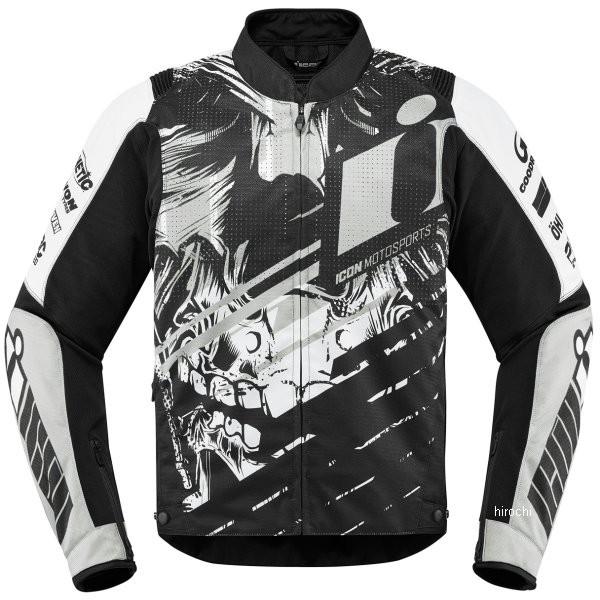【USA在庫あり】 アイコン ICON 秋冬モデル ジャケット オーバーロード SB2 スティム 白 3XLサイズ 2820-4550 JP店