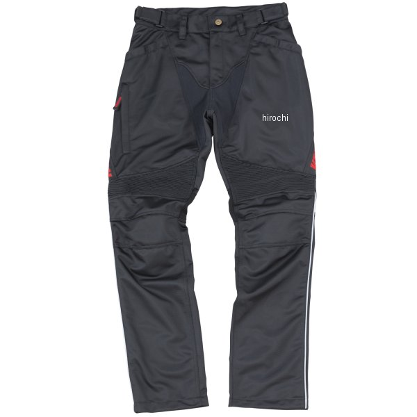 イエローコーン YeLLOW CORN 2020年春夏モデル メッシュパンツ 黒/赤 3LWサイズ YP-9130 JP店