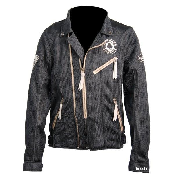 エースカフェロンドン 2019年春夏モデル メッシュダブルライダースジャケット 黒 Lサイズ SS1902MJ-BK/L JP店