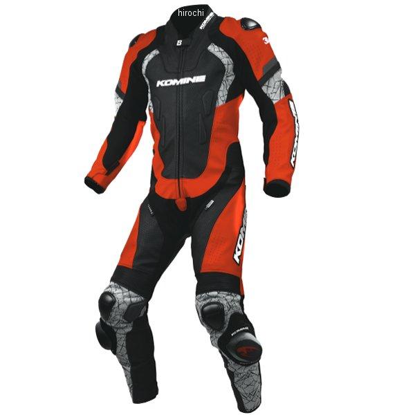 S-52 コミネ KOMINE 春夏モデル レーシング レザースーツ 赤/黒 3XLサイズ 4573325746206 JP店