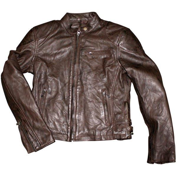 モトフィールド MOTO FIELD 春夏モデル シングルレザージャケット ビンテージ ダークブラウン Lサイズ MF-LJ134 JP店