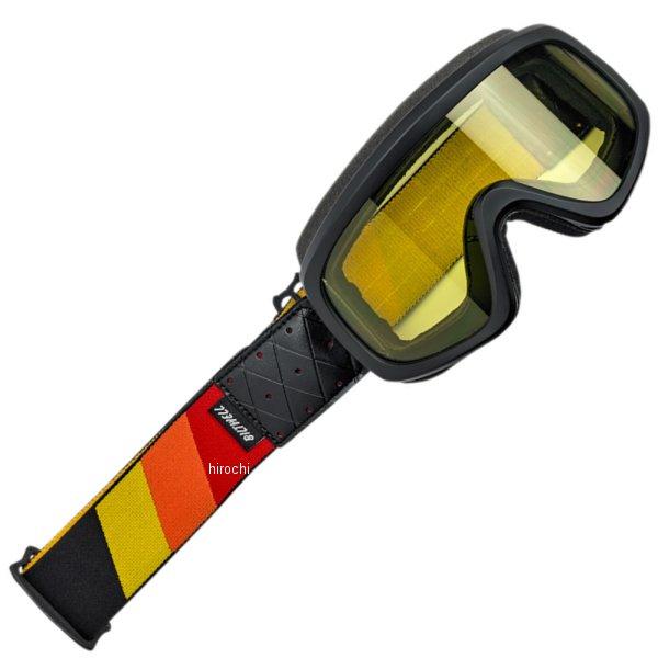 【USA在庫あり】 ビルトウェル Biltwell ゴーグル Overland 2.0 Tri Stripe/赤 オレンジ 黄ストラップ 2601-2576 JP店