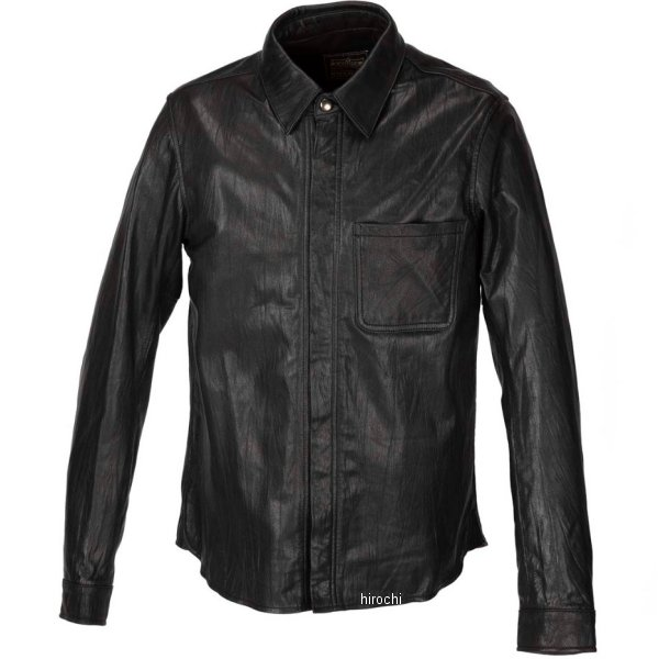 カドヤ KADOYA 春夏モデル レザーシャツ STD 黒 Mサイズ 1199-0 JP店