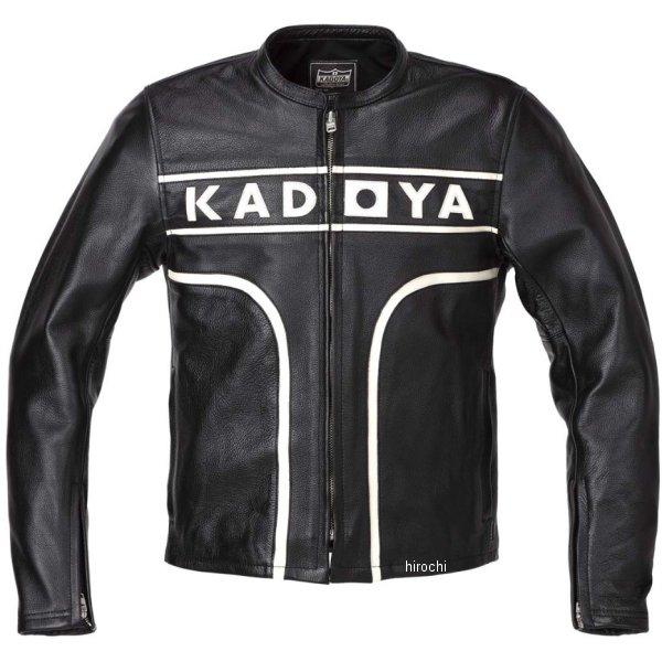 カドヤ KADOYA 春夏モデル レザージャケット MARK-ONE 黒/アイボリー LLサイズ 1527-0 JP店