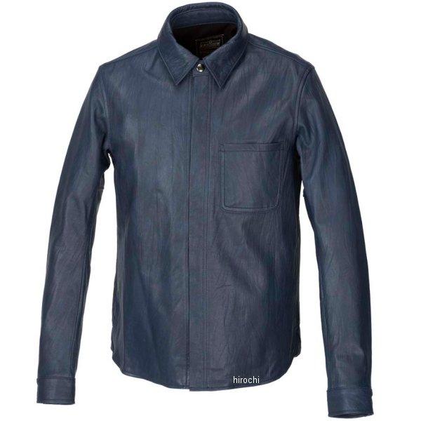 カドヤ KADOYA 春夏モデル レザーシャツ STD ネイビー Lサイズ 1199-0 JP店