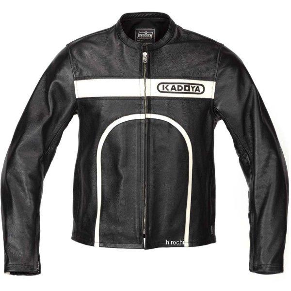 カドヤ KADOYA 春夏モデル レザージャケット CHASER 黒/アイボリー LLサイズ 1528-0 JP店