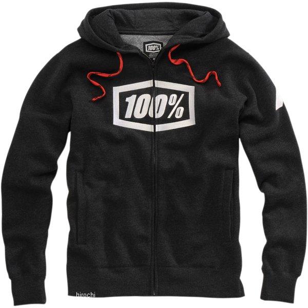 【USA在庫あり】 100パーセント 100% フリース Zip-Front Syndicate 黒/Heather Lサイズ 3050-4676 JP店