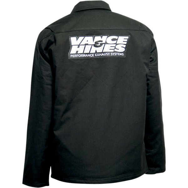 【USA在庫あり】 スロットルスレッズ Throttle Threads ショップジャケット Vance & Hines 黒 Mサイズ 3001-0225 JP店