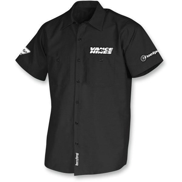 【USA在庫あり】 スロットルスレッド Throttle Threads ショップシャツ Vance & Hines 黒 2XLサイズ 3040-0494 JP店