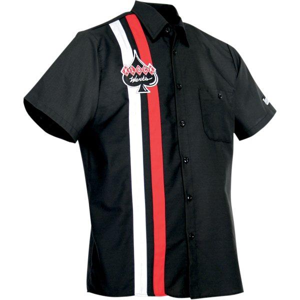 【USA在庫あり】 スロットルスレッズ Throttle Threads ショップシャツ Klock Werks Sサイズ 3040-1459 JP店