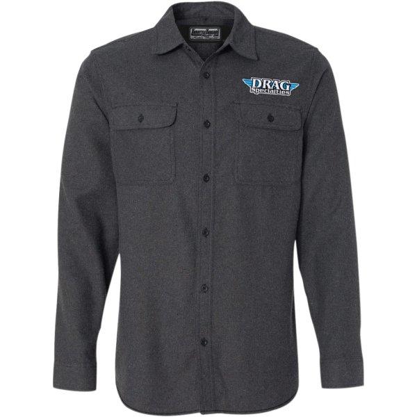 【USA在庫あり】 スロットルスレッズ Throttle Threads シャツ フランネル Drag Specialties チャコール Lサイズ 3040-2322 JP店