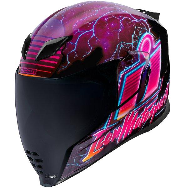 アイコン ICON フルフェイスヘルメット AIRFLITE SYNTHWAVE パープル XLサイズ 0101-12090 JP店