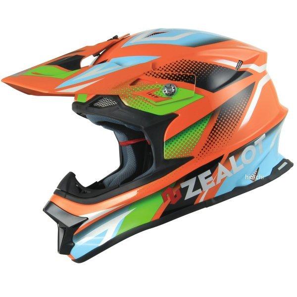 【メーカー在庫あり】 ジーロット ZEALOT オフロードヘルメット マッドジャンパー MadJumper GRAPHIC オレンジ/青 Lサイズ MJ0013/L JP店