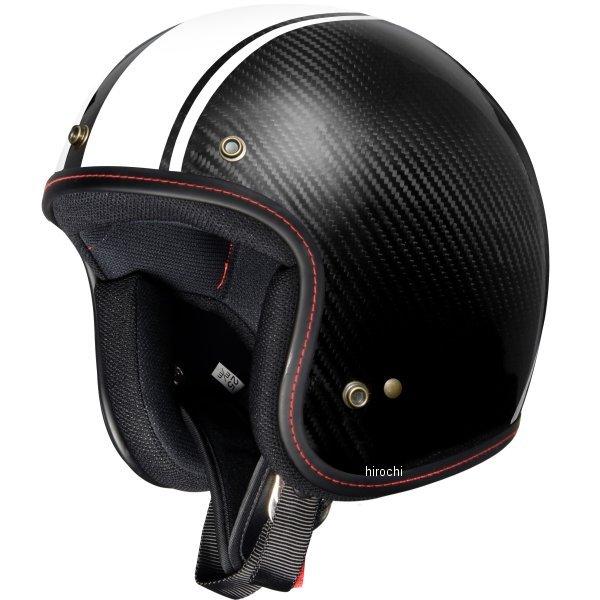 【メーカー在庫あり】 ジーロット ZEALOT ジェットヘルメット フライボーイジェット CARBON HYBRID STD グラフィック ホワイトストライプ Mサイズ FJ0015/M JP店