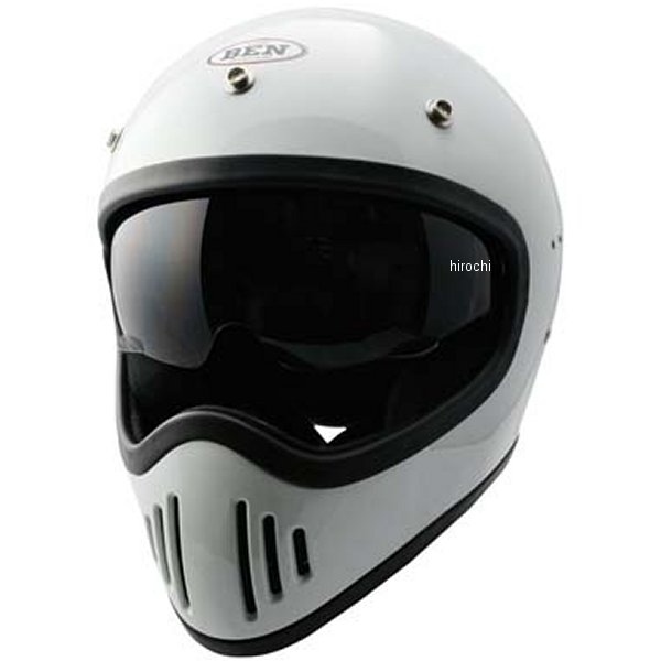 【メーカー在庫あり】 TNK工業 フルフェイスヘルメット B-80 ヴィンテージモトクロスヘルメット 白 フリーサイズ(58-59) 4984679512551 JP店
