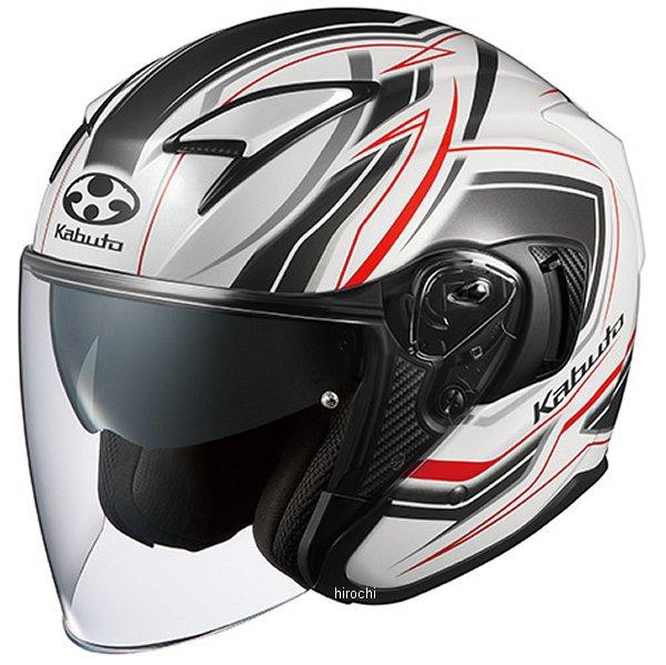【メーカー在庫あり】 オージーケーカブト OGK KABUTO ジェットヘルメット EXCEED CLAW パールホワイト Mサイズ 4966094581534 JP店