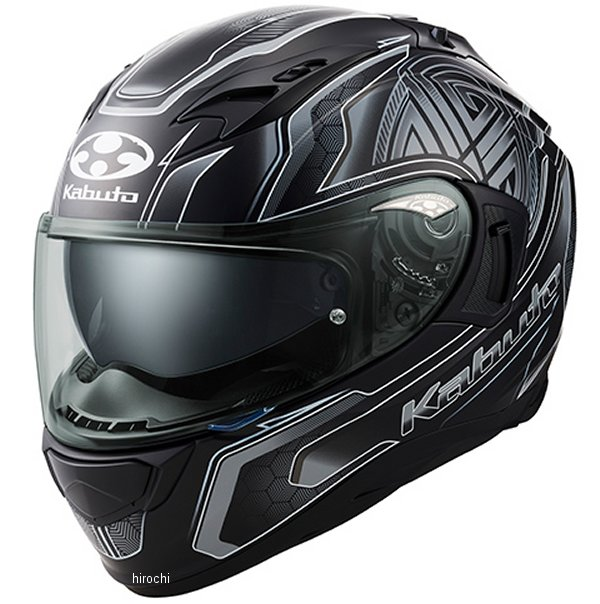 オージーケーカブト OGK KABUTO フルフェイスヘルメット KAMUI 3 CIRCLE フラットブラックシルバー Lサイズ 4966094585747 JP店