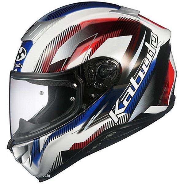 オージーケーカブト OGK KABUTO フルフェイスヘルメット AEROBLADE-5 GO 白青赤 Lサイズ 4966094586980 JP店