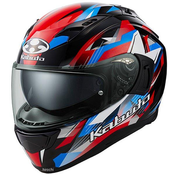 【メーカー在庫あり】 オージーケーカブト OGK KABUTO フルフェイスヘルメット KAMUI 3 STARS 黒青赤 Mサイズ 4966094587277 JP店