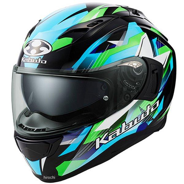【メーカー在庫あり】 オージーケーカブト OGK KABUTO フルフェイスヘルメット KAMUI 3 STARS 黒緑 Mサイズ 4966094587376 JP店