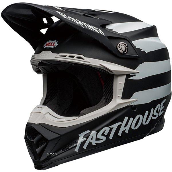 【メーカー在庫あり】 ベル BELL オフロードヘルメット MOTO-9 MIPS ファストハウス シグニア マットブラック/白 Mサイズ(57cm-58cm) 7109815 JP店