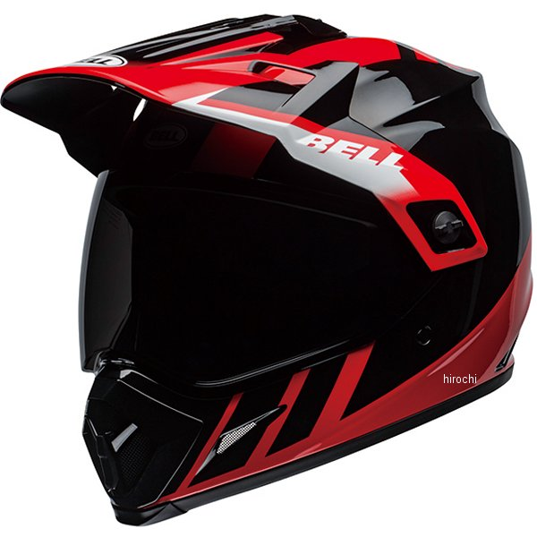 【メーカー在庫あり】 ベル BELL オフロードヘルメット MX-9 アドベンチャー MIPS ダッシュ グロスブラック/赤/白 XLサイズ(60cm-61cm) 7110279 JP店