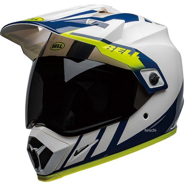 【メーカー在庫あり】 ベル BELL オフロードヘルメット MX-9 アドベンチャー MIPS ダッシュ 白/青/ハイビズ Lサイズ(59cm-60cm) 7110320 JP店