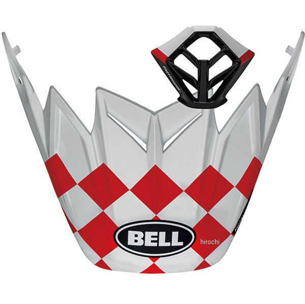 【メーカー在庫あり】 ベル BELL バイザー&マウスピースキット MOTO-9 FLEX/MIPS ファストハウス チェッカーズ マットホワイト/赤 7112551 JP店