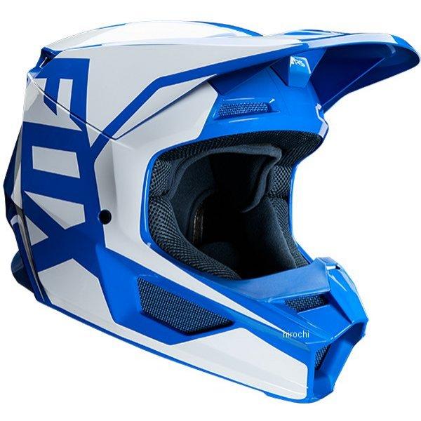 【メーカー在庫あり】 フォックス FOX オフロードヘルメット V1 プリ 青 Lサイズ(59cm-60cm) 23976-002-L JP店