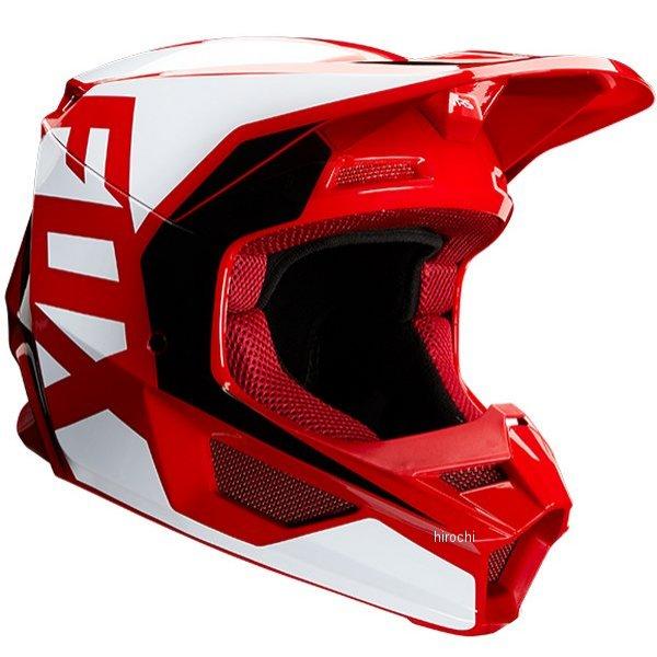 【メーカー在庫あり】 フォックス FOX オフロードヘルメット V1 プリ フレイムレッド Lサイズ(59cm-60cm) 23976-122-L JP店
