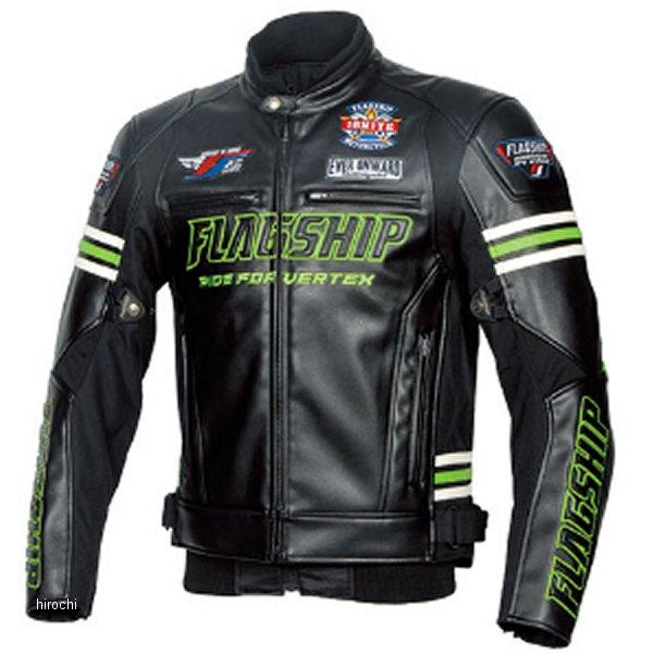 フラッグシップ FLAGSHIP 2019年秋冬モデル レザージャケット Ignite PU 黒/緑 Mサイズ FJ-W193 JP店