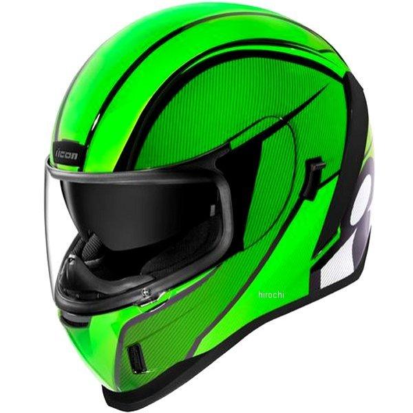 アイコン ICON 2019年秋冬モデル フルフェイスヘルメット AIRFORM CONFLUX 緑 XSサイズ 0101-12320 JP店