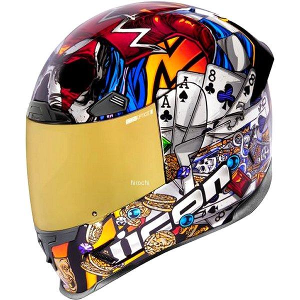 アイコン ICON 2019年秋冬モデル フルフェイスヘルメット AIRFRAME PRO LUCKYLID3 ゴールド Sサイズ 0101-12382 JP店