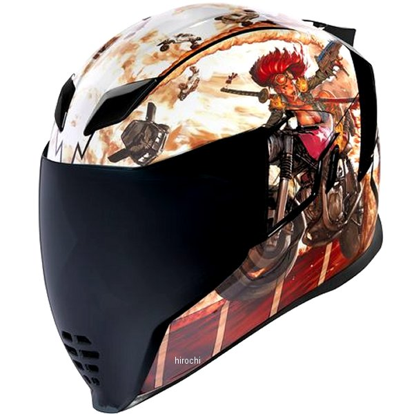 アイコン ICON 2019年秋冬モデル フルフェイスヘルメット AIRFLITE PLEASUREDOME3 ブラウン XSサイズ 0101-12395 JP店