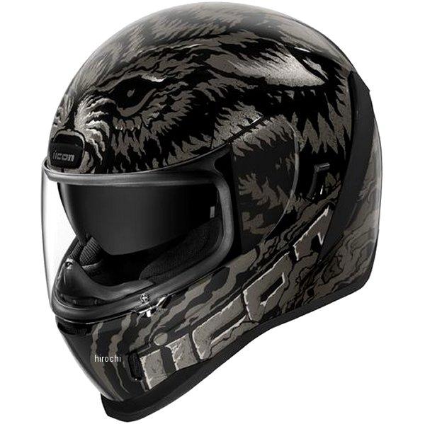 アイコン ICON 2019年秋冬モデル フルフェイスヘルメット AIRFORM LYCAN 黒 Lサイズ 0101-12646 JP店