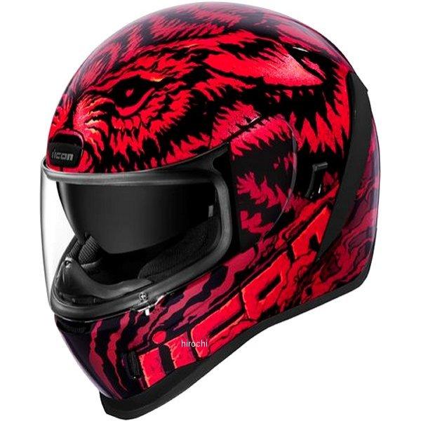 アイコン ICON 2019年秋冬モデル フルフェイスヘルメット AIRFORM LYCAN 赤 Lサイズ 0101-12653 JP店