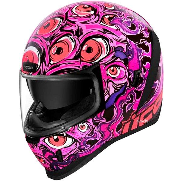 アイコン ICON 2019年秋冬モデル フルフェイスヘルメット AIRFORM ILLUMINATUS ピンク XSサイズ 0101-12664 JP店