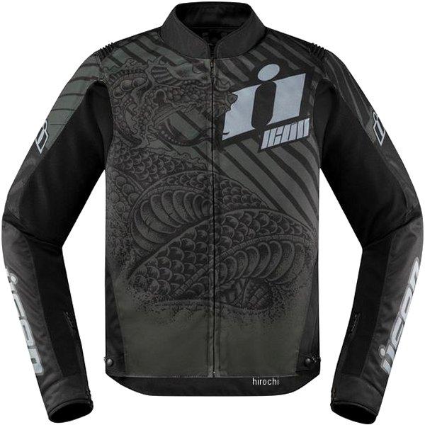 アイコン ICON 2019年秋冬モデル ジャケット OVERLORED SERPECANT CE 黒 Lサイズ 2820-5022 JP店