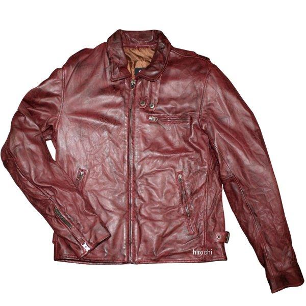 モトフィールド 2019年秋冬モデル ライダースレザージャケット(えり付きビンテージ) ワインレッド LLサイズ MF-LJ144 JP店
