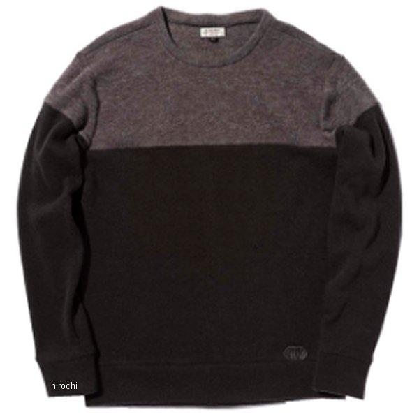 カドヤ KADOYA 2019年秋冬モデル 防風セーター INTHERMO 黒/グレー LLサイズ 6252 JP店