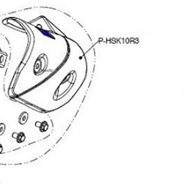 アクラポビッチ AKRAPOVIC カーボンヒートシールド S-K10SO7T-HASZ用 P-HSK10R3 JP店