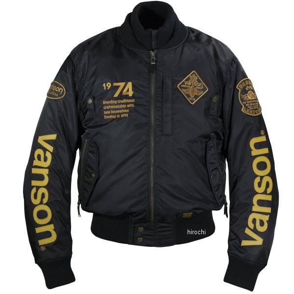 バンソン VANSON 2019年秋冬モデル ナイロンジャケット 黒/黄 L2Wサイズ VS19111W JP店