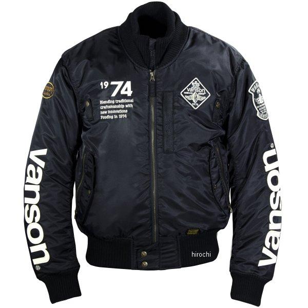 バンソン VANSON 2019年秋冬モデル ナイロンジャケット 黒/アイボリー Lサイズ VS19111W JP店
