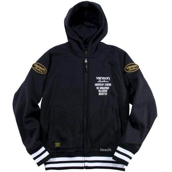 バンソン VANSON 2019年秋冬モデル フーディジャケット 黒 Lサイズ VS19402W JP店
