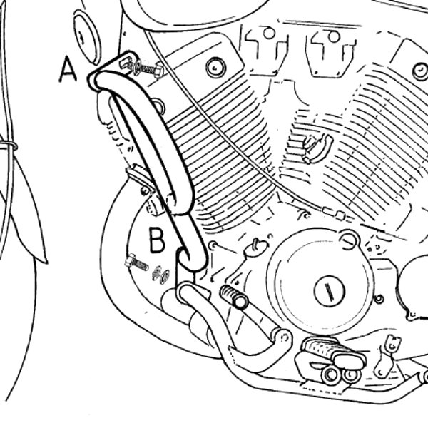 ヘプコアンドベッカー HEPCO&BECKER エンジンガード ヤマハ XV535 ビラーゴ クローム 501401 00 02 JP店