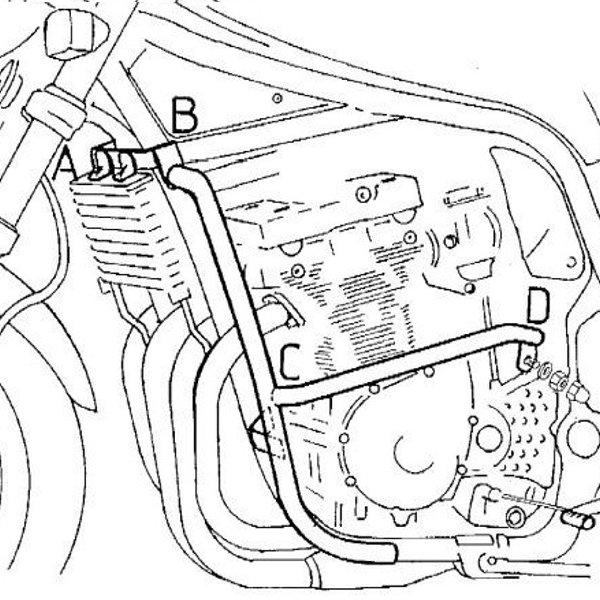 ヘプコアンドベッカー HEPCO&BECKER エンジンガード 95年-00年 GSF1200 バンディット ブラック 501309 00 01 JP店