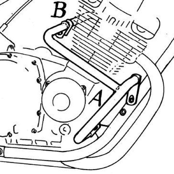 ヘプコアンドベッカー HEPCO&BECKER エンジンガード 94年以降 XJ900S ディバージョン クローム 501408 00 02 JP店